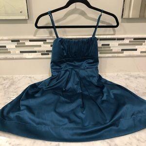 Alyn Paige Dark Blue / Green Mini Party Dress